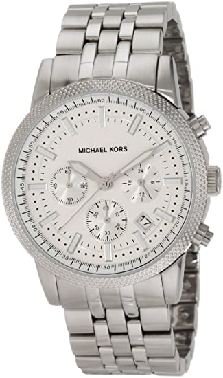c64434d4fa35 Michael Kors Men s MK8072 Silver Knurl Chronograph Watch  Michael Kors   Amazon.ca  Watches