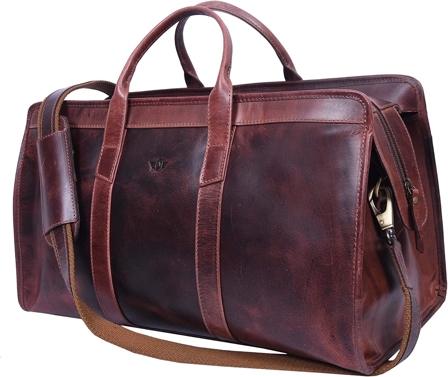 Addey Supply Company 20 Leather Weekender Bag Overnight Travel Duffel Bag