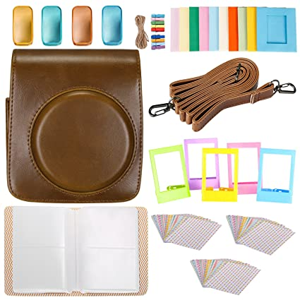 Neewer 25-in-1 Accessory Kit for Fujifilm Instax Mini 70: 1 Brown Camera Case/1 Blue Album/4 Colored Filter/5 Film Table Frame/10 Wall Hanging Frame/3 ...
