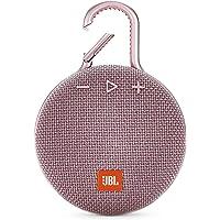 JBL Clip 3 Portable Waterproof Wireless Bluetooth Speaker - Non-Retail Packaging (Dusty Pink) with Clean Key