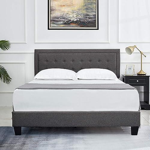Amerlife Queen Bed Frame Upholstered Platform Bed