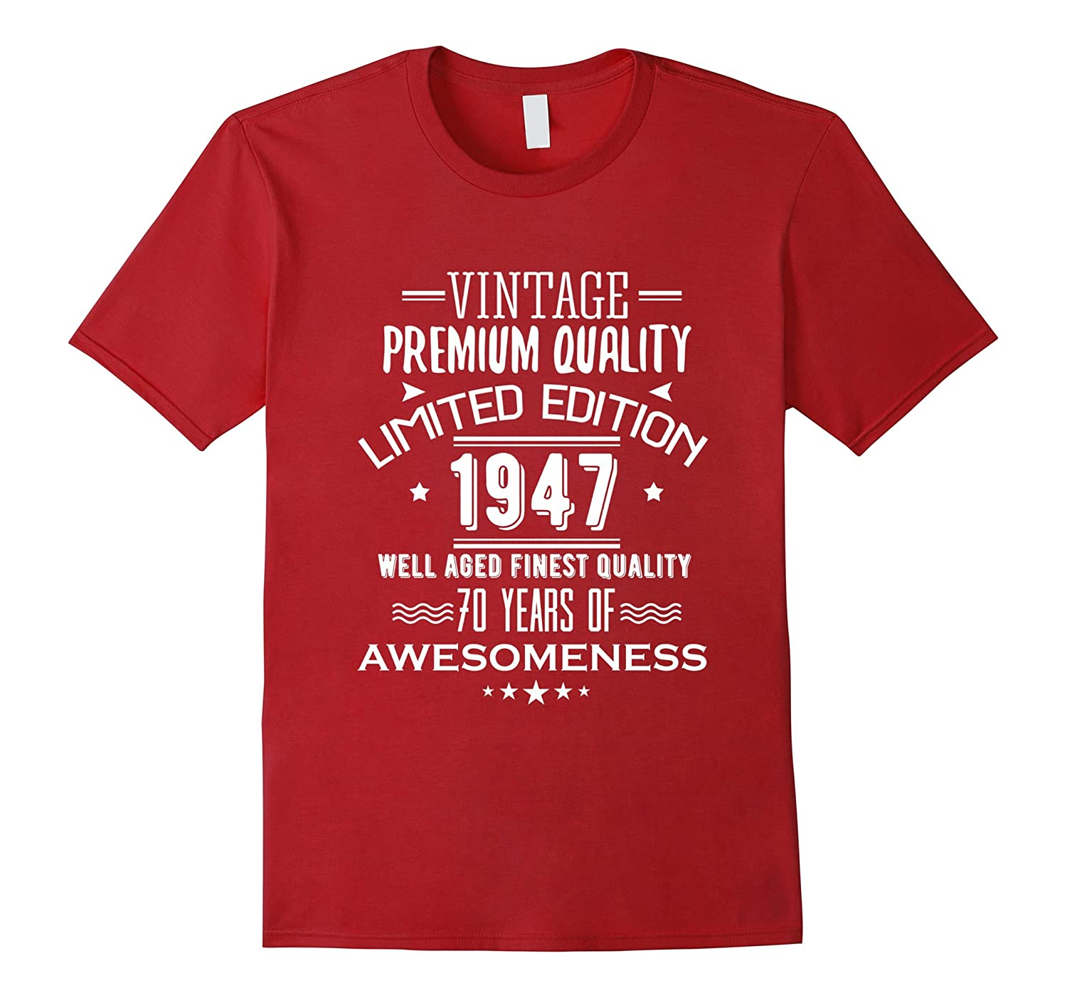 Teevkd 1947 T Shirt For Men Women 70th Birthday Gift Ideas