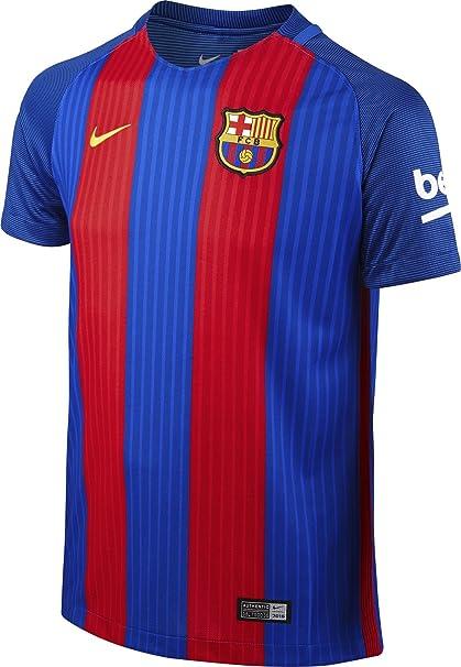 Nike FCB YTH SS Hm Stadium JSY Camiseta Línea F.C. Barcelona ...
