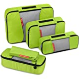 Travel Packing Cubes, Gonex Luggage Organizers L+M+2Slim+Laundry Bag Green