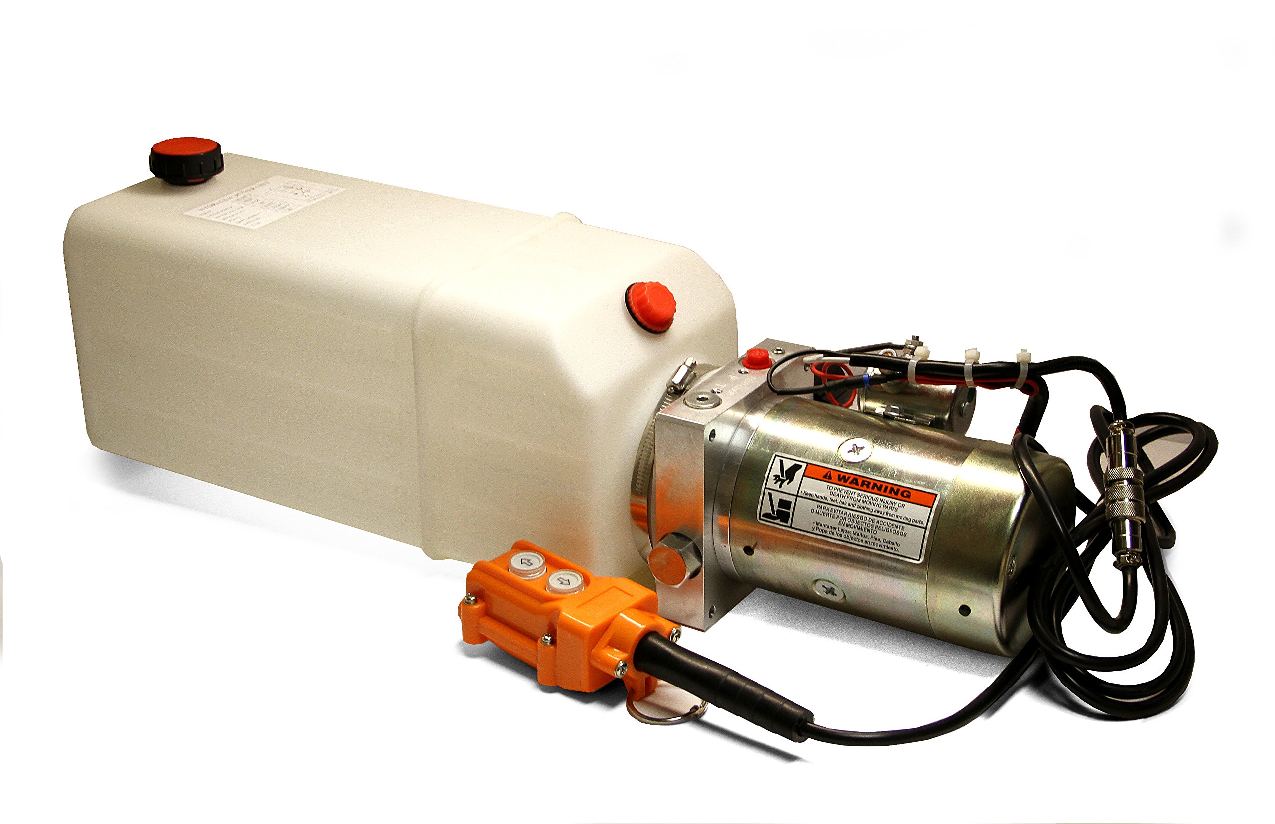 Maxim Hydraulic Power Unit (12V DC, Single Acting): 1.3 GPM Flow, 1 Gallon(4 QT) Poly Tank @2500 PSI #6 SAE Port Size and Solenoid Operated With HPU Dimensions: 16.25'' L x 8.3'' W x 8'' H