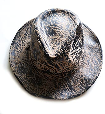 3c0a663ce8037 Image Unavailable. Image not available for. Color  Disney Indiana Jones  Faux Leather Patterned Fedora Hat