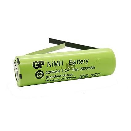 Batería de repuesto para GP Batteries par worldgen® 2200 mAh 1.2 V 49 x 14 mm para cepillo de dientes eléctrico braun ...