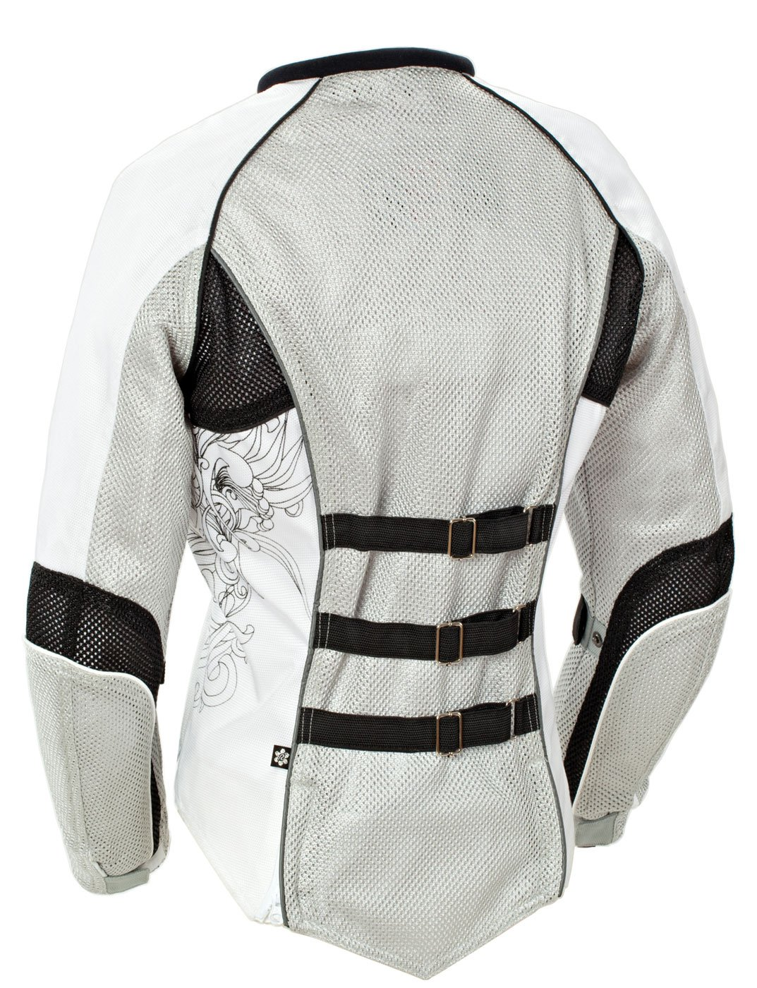 Joe Rocket Cleo 2.2 Women's Mesh Motorcycle Riding Jacket (Silver/Black/White, XXX-Large) by Joe Rocket (Image #2)