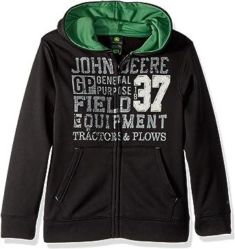 John Deere Boys Little Fleece Hoody Zip Front
