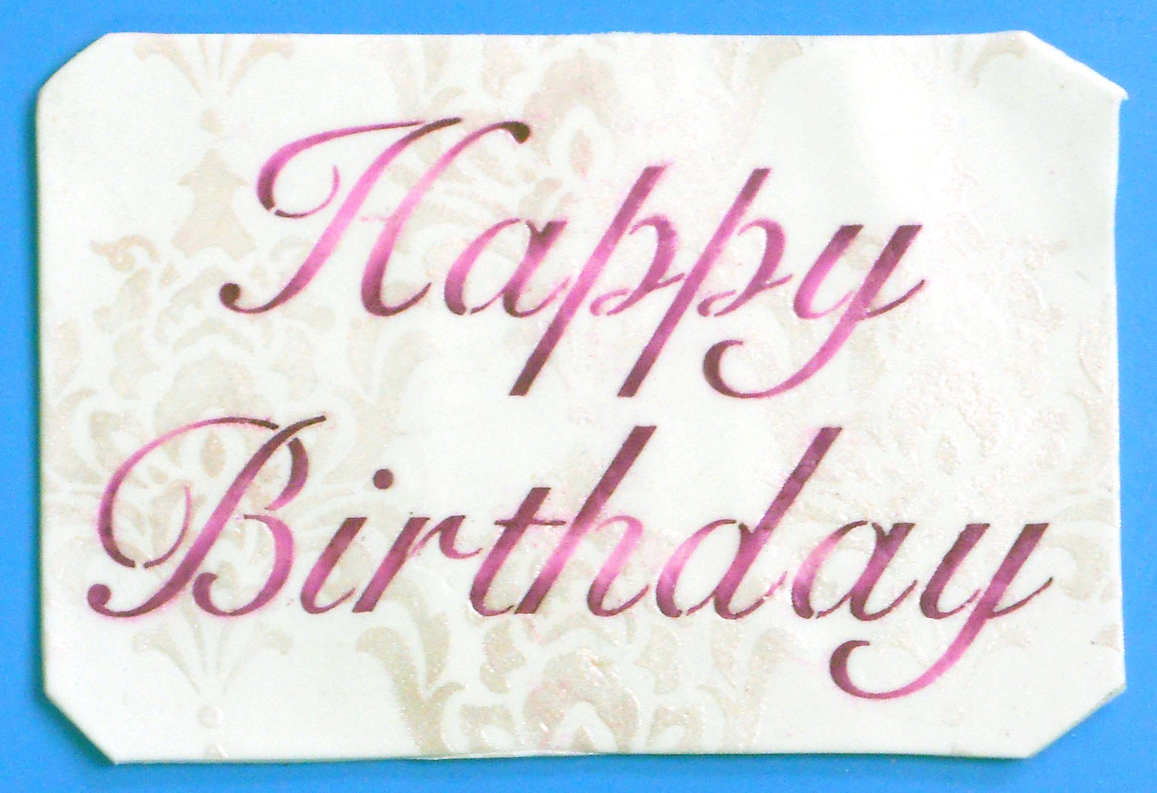Designer Stencils C241 Fancy Happy Birthday Cake Stencil, Beige/Semi-Transparent by Designer Stencils (Image #2)