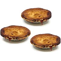 "Vegan 6"" Strawberry Rhubarb Pie (3-PACK): Homemade Fresh, Plant-Based, No Artificial Colors, Flavors, or Preservatives"