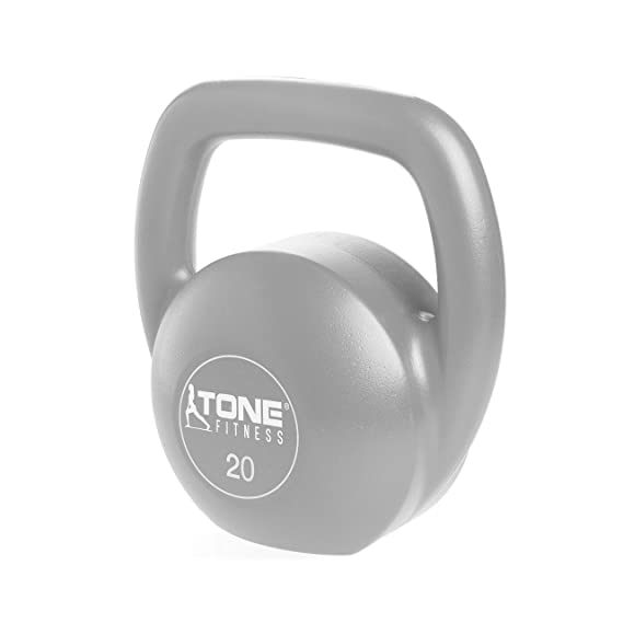 Amazon.com : Tone Fitness SDKC2-TN020 Vinyl Kettlebell, 20 lb : Sports &  Outdoors