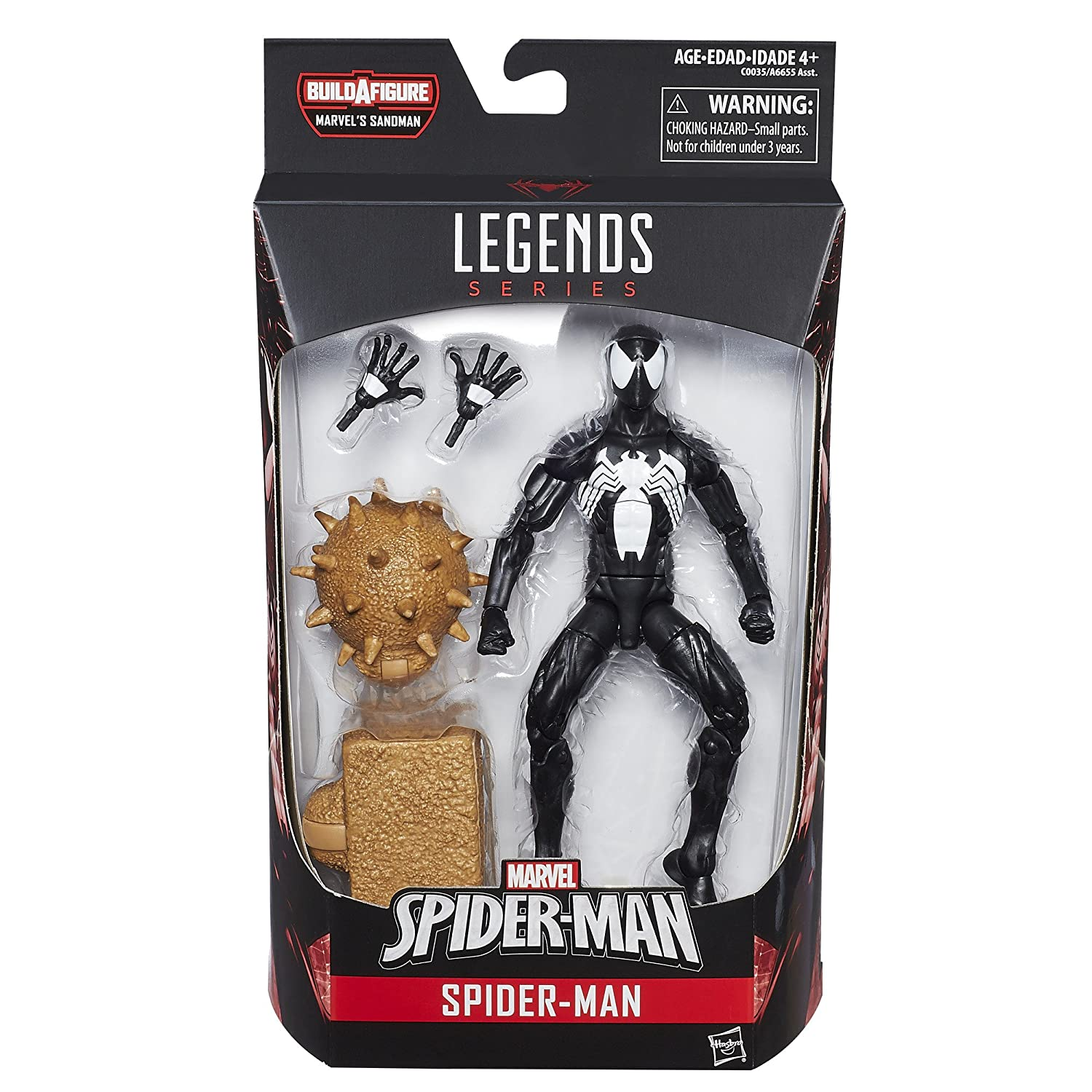 Amazon.com: Marvel Spider-Man 6-inch Legends Series Symbiote Spider-Man:  Toys & Games