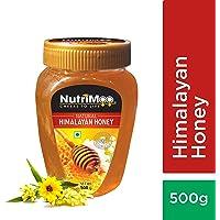 Nutrimoo Pure & Natural Honey - Himalayan Source | Original Big Pack | 100% Natural Flower Bees - NutriMoo - 500gms PET Bottle