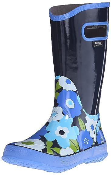 Girls Bogs Navy Multi Flower Lightweight Rain Boot Wellies Wellingtons 71927-Uk 1 (eu 33) LbbUopQ