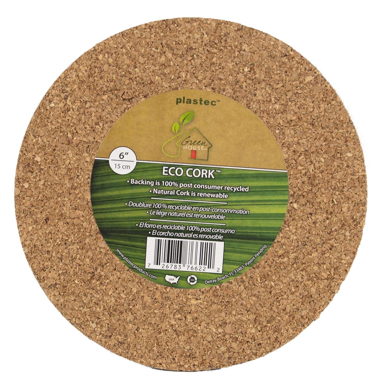 Amazon.com : Plastec ECR12 Eco Cork Mat, 12-Inch : Planters : Garden ...