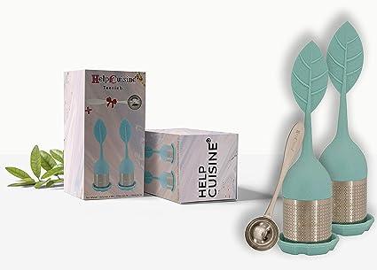 hecho de silicona 100/% alimentaria libre de BPA Amarillo HelpCuisine/® infusor de te//infusionador//colador te//filtro te//infusores de te