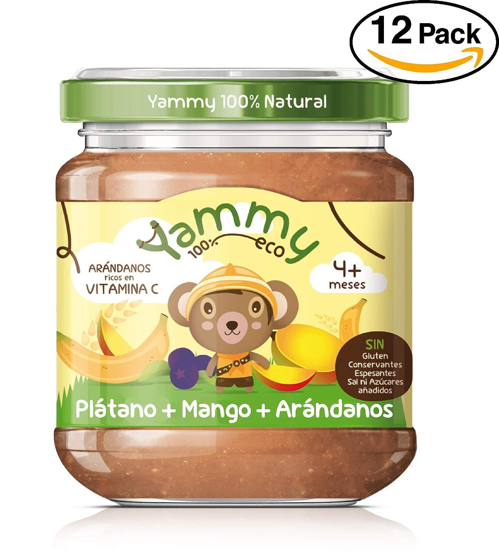 Yammy, Potito Ecológico de Frutas (Plátano, Mango, Arándanos) - 12 de 195 gr. (Total 2340 gr.): Amazon.es: Alimentación y bebidas
