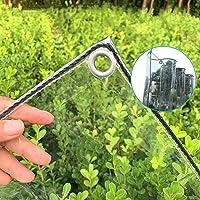 Tarp-dekzeil Transparant Zeildoek Met Doorvoertules, Dikker, Regendicht Plastic Doorzichtig Zeildoek, Duurzame PVC…