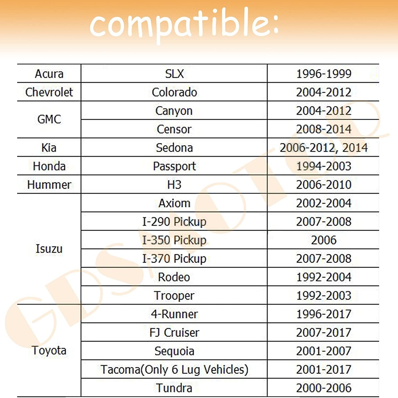 "Amazon.com: 4pcs 1.5"" 6x5.5 to 6x5.5 Wheel Spacers Adapters 12x1.5 Studs  for 6 Lug 6x139.7 Toyota 4Runner FJ Cruiser Tacoma Tundra Chevy Colorado  GMC Canyon ..."