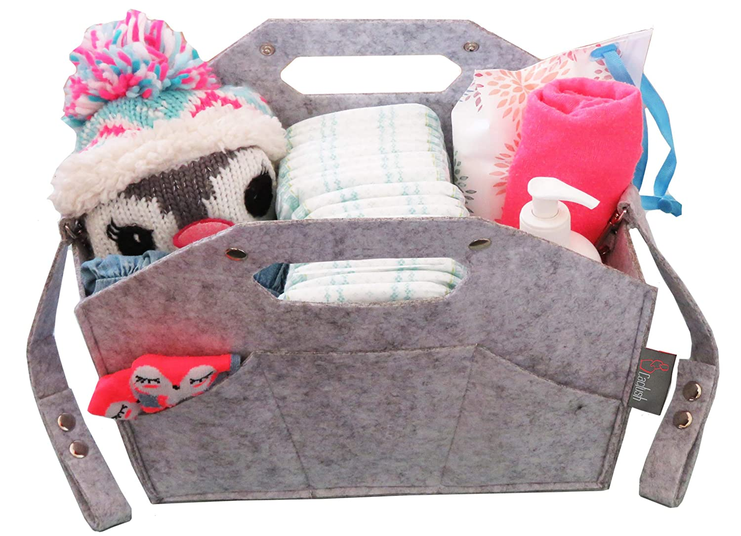Cactush Baby Diaper Caddy Organizer Adjustable Hanging Straps & Snaps Crib, Stroller, Changing Table,Nursery, Car - Best