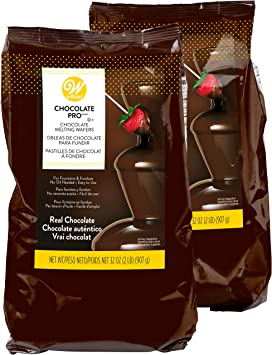 Wilton Chocolate Pro Melting Chocolate Wafers For Chocolate Fountains Or Fondue Multipack Of Two 2 Lb Bags 4 Lbs Grocery Gourmet Food