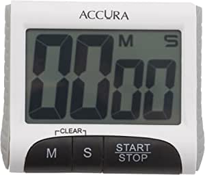 ACCURA Digital Kitchen Timer 99 Minute 59 Seconds - White