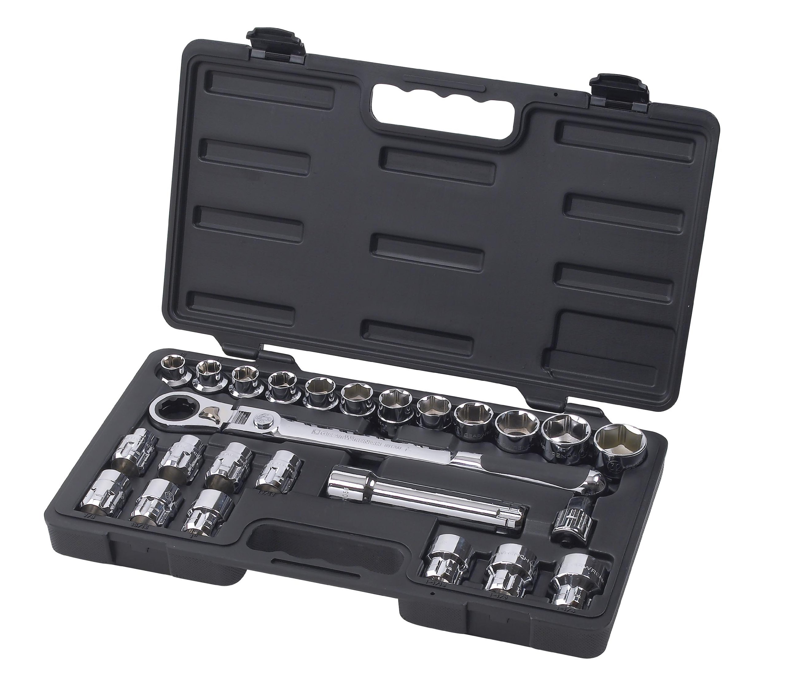 GEARWRENCH 891226 25 Piece 1/2-Inch Drive (30mm) Pass Thru Ratchet Set with Locking Flex-Head by GearWrench (Image #1)