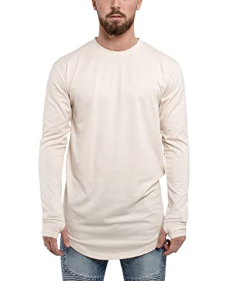 Amazon.com  Blackskies Round Long Sleeve Basic Men s Longline T ... 8241755612f