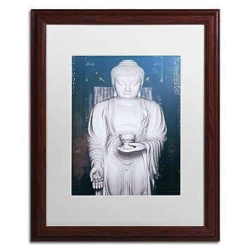 Amazon.com: White Buddha by Philippe Hugonnard, White Matte, Wood ...