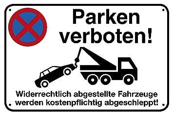 Cartel prohibido aparcar de aluminio con 4 orificios ...