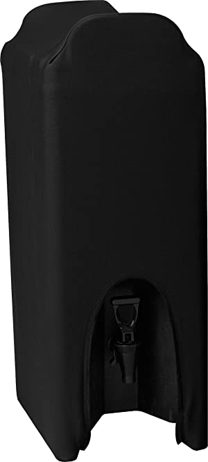 Snap Drape CCBDC50 Contour Beverage Dispenser Cover, Snug Fit, Machine Washable/Dryable, Flame Retardant, Fits 5 gal, Polyester/Spandex Blend Black (Pack of 3)