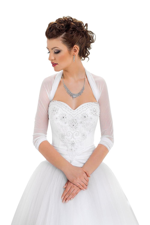 Bridal Ivory White Tulle Bolero Shrug Wedding Jacket Shawl S M L XL XXL XXXL