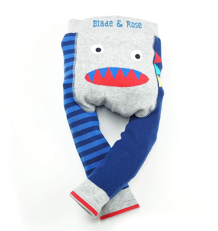 Blade /& Rose Baby Jungen Leggings Blue Grey Red 0-6 Monate 0-24 Monate