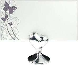 EinsSein 1x Tischkartenhalter Hochzeit - Herz Tischkartenhalter, Platzkartenhalter, Namenskartenhalter,