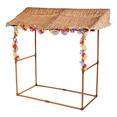Tabletop Tiki Hut Bar Stand - Luau Party Decor: Toys & Games