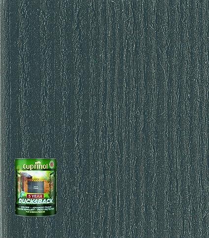 Cuprinol DBSC5L Ducksback - Pintura para cabañas y vallas (protección impermeable durante 5 años,