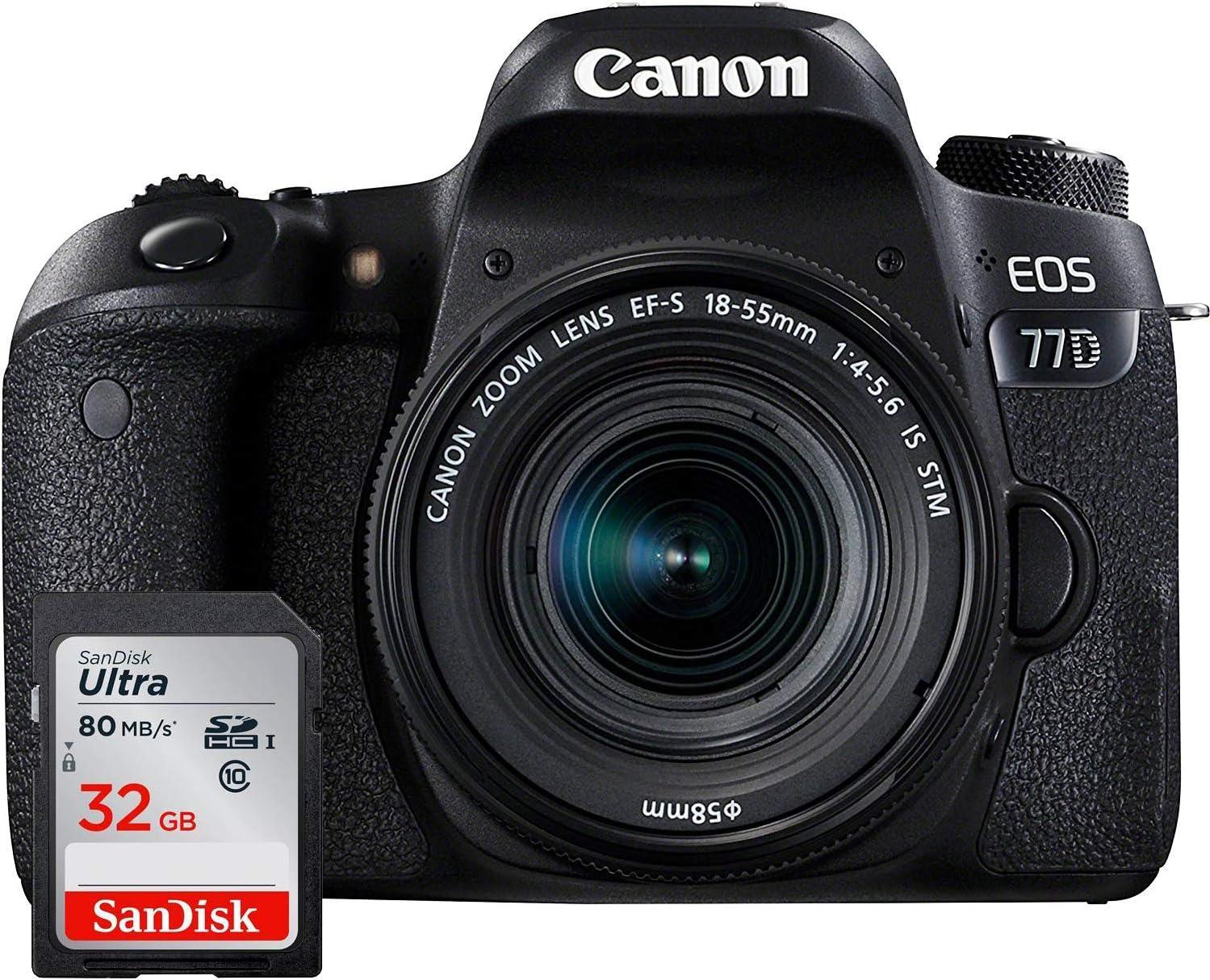 Canon EOS 77D - Cámara réflex + Objetivo EF-S 18-135mm f/3,5-5,6 ...
