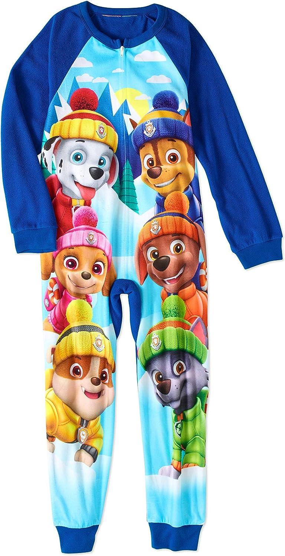 Paw Patrol Toddler Boys 1-Piece Fleece Footed PJs