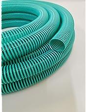 Hero - Tubo Flessibile di aspirazione a Spirale, 32 mm (1 1/4), Verde/Trasparente, 10 m