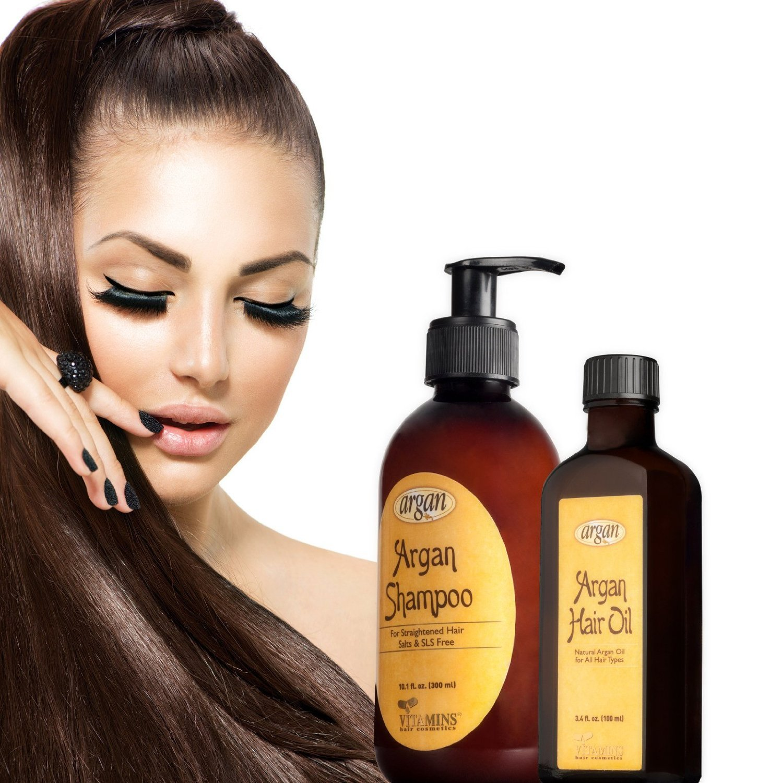 Self straight perm kit - Amazon Com After Straightening Argan Shampoo Hair Oil Kit Moroccan Salt Free Shampoo For Flat Iron Smoothing Straightened Hair 10 1 Oz And Hair Shine