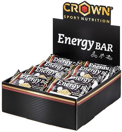 Crown Sport Nutrition 18 x Energy Bar (60g), Barritas de avena energéticas sin cobertura con extra de proteína para deportistas, Sabor de Yogur