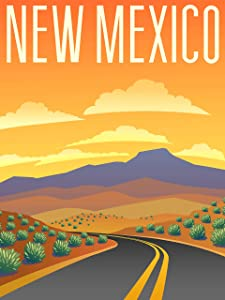 EzPosterPrints - Retro Style Travel Poster Series- Poster Printing - Wall Art Print for Home Office Decor - New Mexico - 11X14 inches