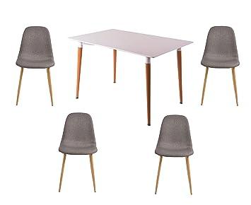 TlgTischgruppeBestehend Aus 5 4x Salesfever Tisch Und 1x Moderne SUGqMpLzV
