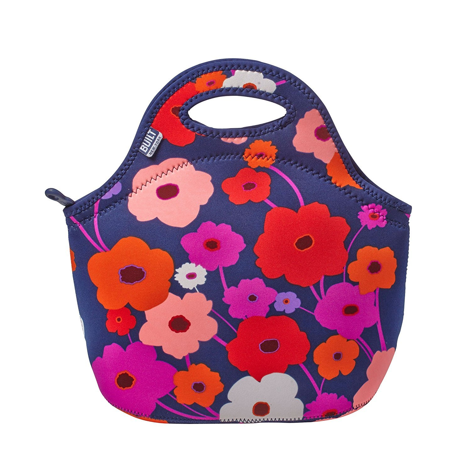 Built NY 5159629CAN Gourmet to Go Neoprene Lunch Tote, Lush Flower, Medium