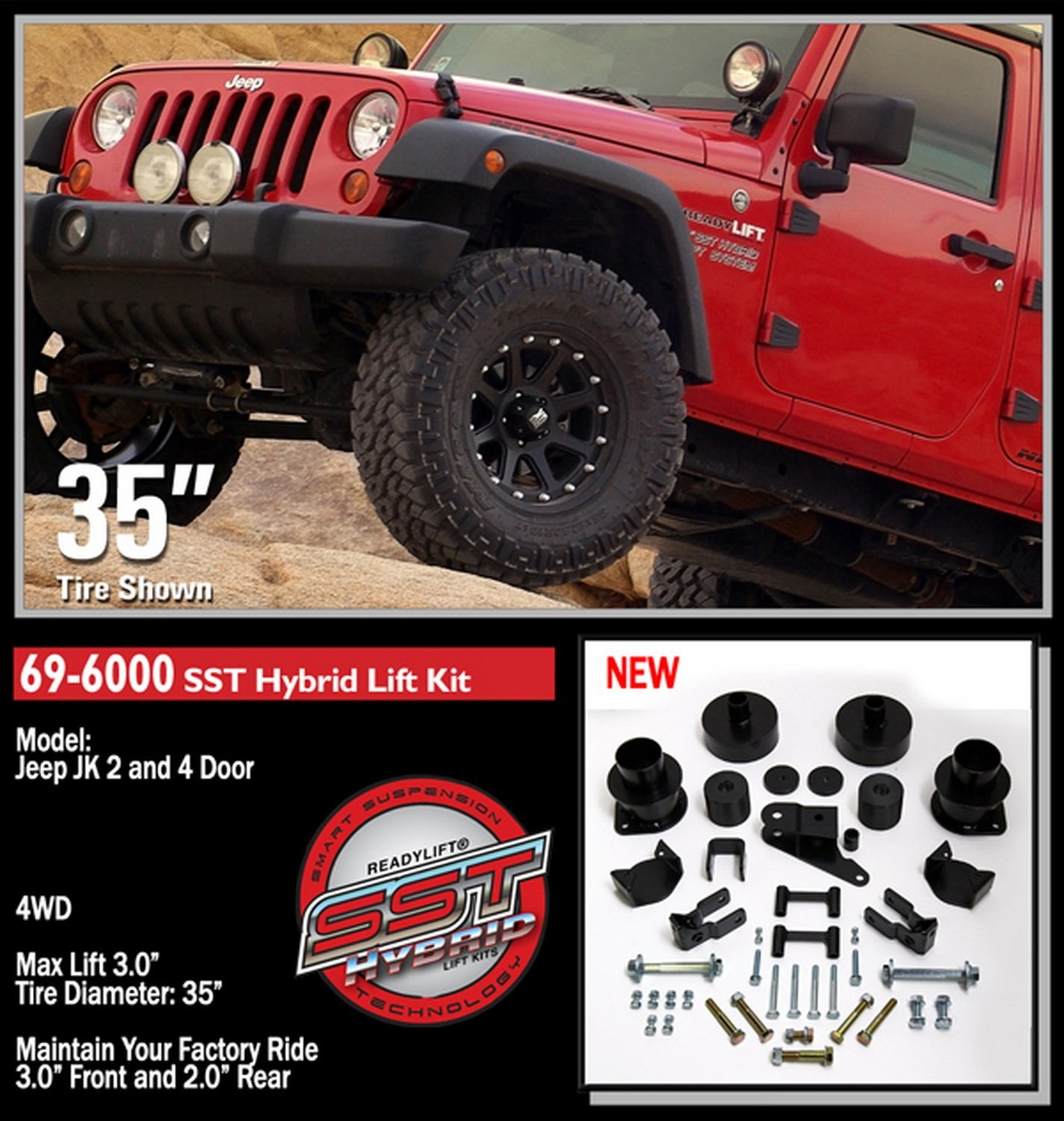 lift maxtrac jk wrangler kit w coil jeep dsc kits shocks with