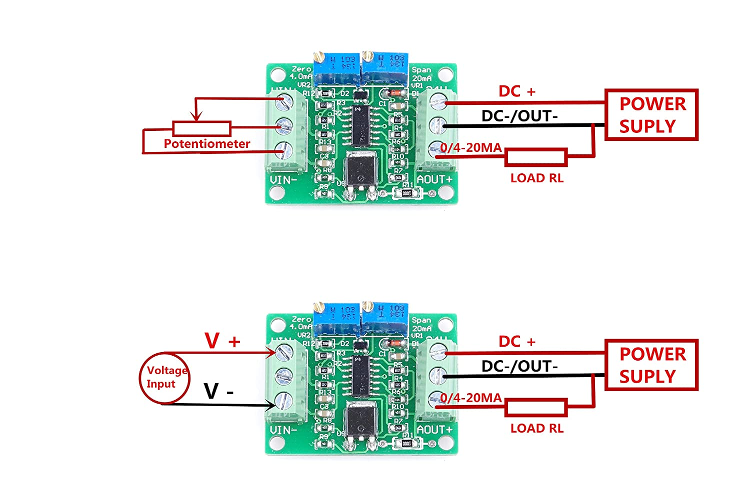 Knacro Voltage To Current Module 0 25v 33v 5v 10v 15v Simple Currenttovoltage Converter Circuit Diagram Electronic 24v Conversion 20ma 4 Home Audio Theater
