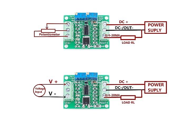 Amazon.com: KNACRO Voltage To Current Module 0-2.5V 3.3V 5V 10V 15V on rs232 wiring-diagram, transducer wiring-diagram, profibus wiring-diagram, plc analog input card wiring-diagram, devicenet wiring-diagram, pyrometer wiring-diagram, rs485 wiring-diagram, potentiometer wiring-diagram, daisy chain wiring-diagram, usb wiring-diagram, rtd probe wiring-diagram, ssr wiring-diagram, 4 wire rtd wiring-diagram, 24vdc wiring-diagram, encoder wiring-diagram, rs-422 wiring-diagram, motion detector lights wiring-diagram, 7 round wiring-diagram, 4 wire transmitter wiring-diagram,