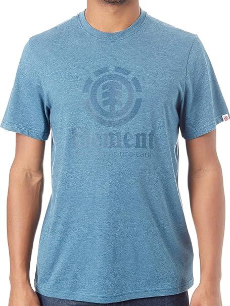 Element Camiseta Vertical Azul Steel Heather (S, Azul)
