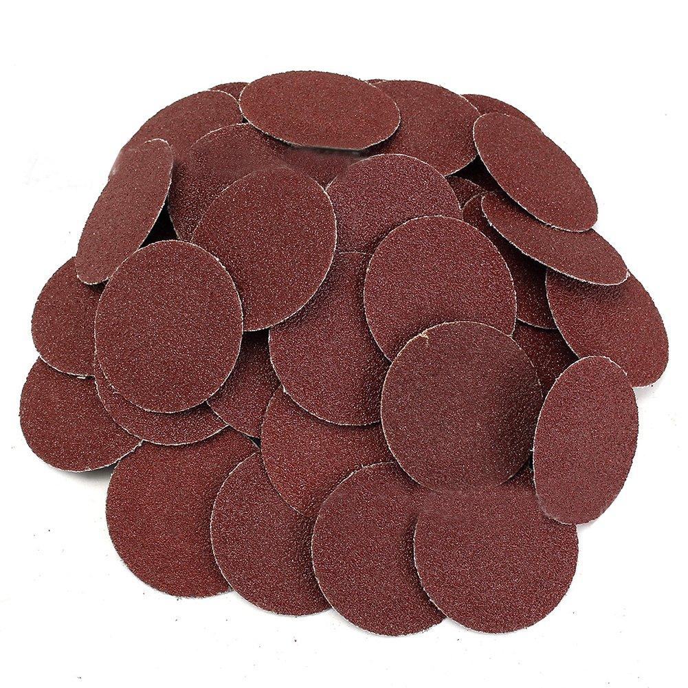 SODIAL(R) 50Pcs 120 Grit 2 inch Roloc Roll Lock Sanding Grinding Discs for Polishing Abrasive